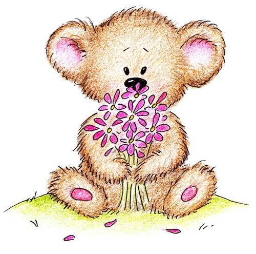 Медведи на открытки