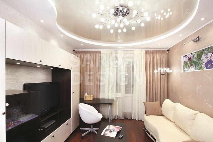 Дизайн потолка в гостиной 16 кв м